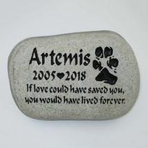 Artemis Pet Memorial Stone