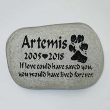 Artemis Pet Memorial Stone