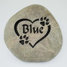 Blue Pet Memorial Stone