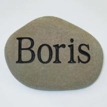 Boris Pet Memorial Stone