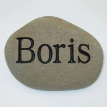 Boris Pet Memorial Stone