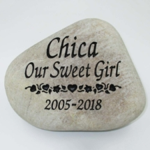 Our Sweet Girl Pet Memorial Stone