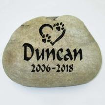 Duncan Pet Memorial Stone