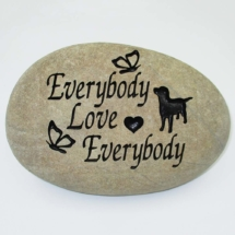 Everybody Love Everybody Pet Memorial Stone