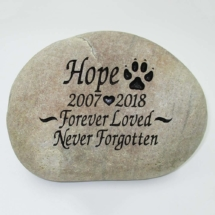 Forever loved Pet Memorial Stone
