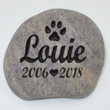 Louie Dog Memorial Stone