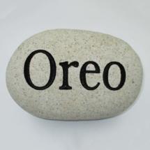 Oreo Custom Memorial Stone