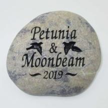 Couple Bird Memorial Stone