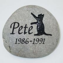 Pete Cat Memorial Stone