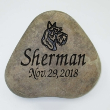 Hairy Dog Pet Memorial Stone