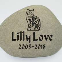 Pet Cat Lilly Memorial Stone