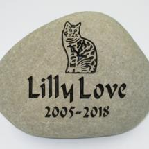 Pet Cat Lilly Memorial Stone