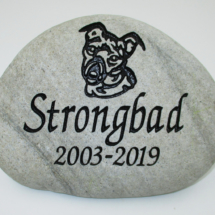 Strongbad Dog Memorial Stone