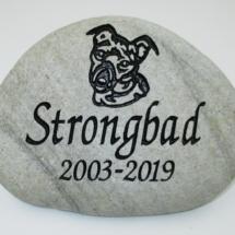 Strongbad Dog Memorial Stone
