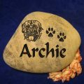 Medium Pet Memorial rock with dates
