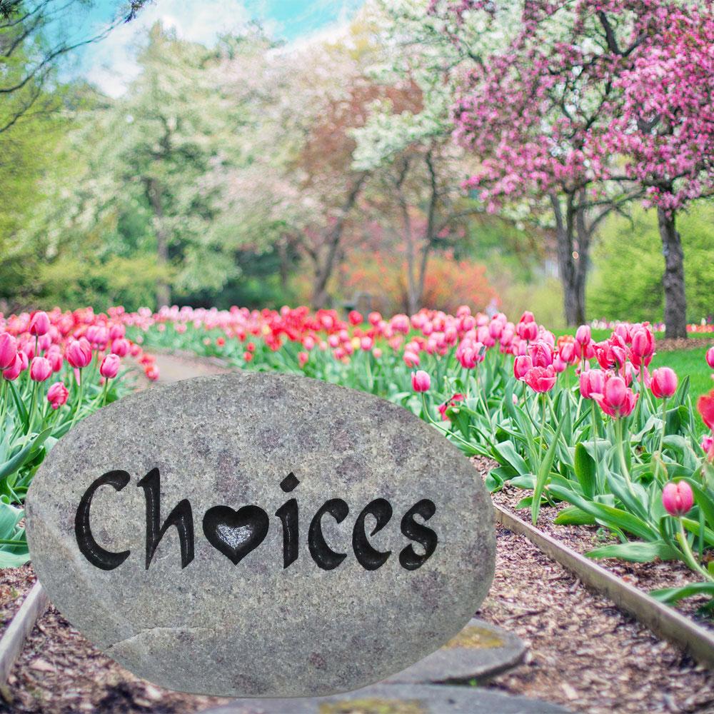 Choices on the Garden Memorial Stone