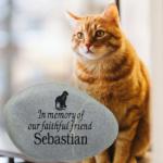 Pet Cat Memorial Stone