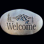 Custom Mountain Memorial Stone