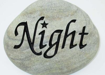 Night Custom Memorial Stone