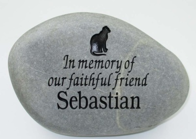 In Memory Cat Pet Memorial Stone