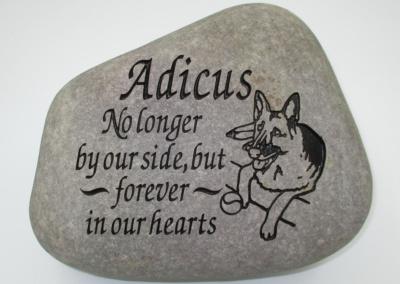 Pet Dog Adicus Memorial Stone
