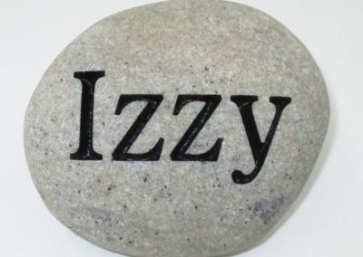 Custom Name Izzy Memorial Stone