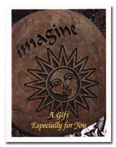 Imagine Sun Design Memorial Stone