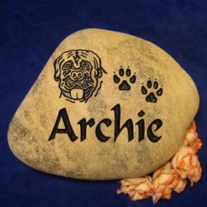 Custom Name Archie Memorial Stone