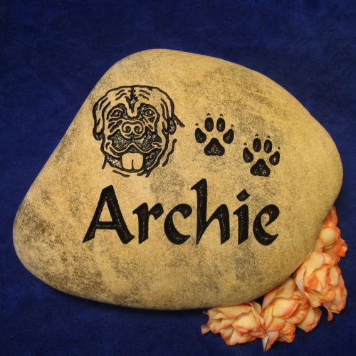 Custom Name Archie Memorial Stone