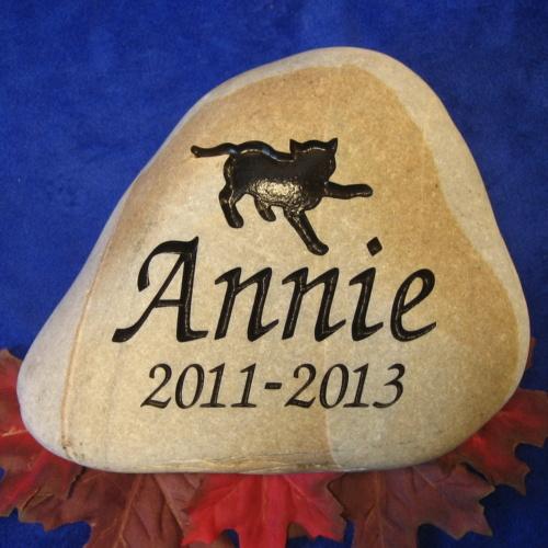 Annie Cat Pet Memorial Stone