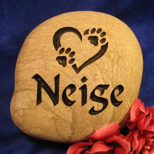 Custom Name Neigie Memorial Stone