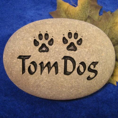 Custom Name Tom Dog Memorial Stone